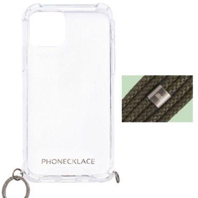 PHONECKLACE iPhone12mini ケース ロープショルダーストラップ付クリア