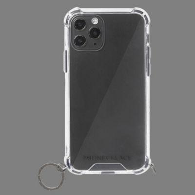 PHONECKLACE iPhone12mini ストラップ用リング付クリア