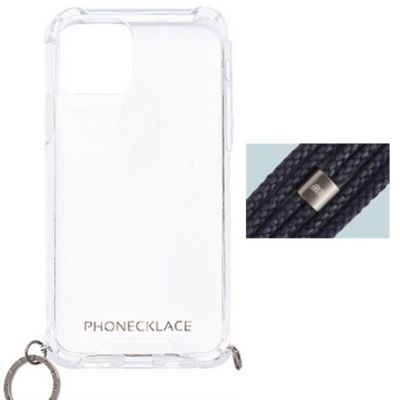 PHONECKLACE iPhone12 iPhone12Pro ロープショルダーストラップ付クリアケース
