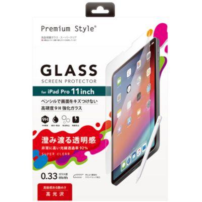 PGA iPad Pro 11インチ用 液晶保護ガラス スーパークリア
