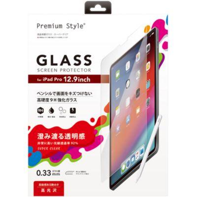 PGA iPad Pro 12.9インチ3rdG用 液晶保護ガラス スーパークリア