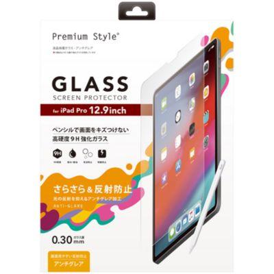 PGA iPad Pro 12.9インチ3rdG用 液晶保護ガラス アンチグレア
