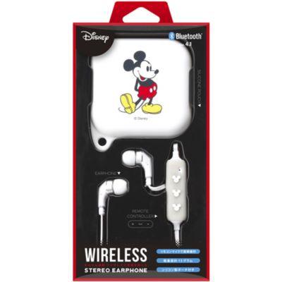 PGA BT 4.1 ワイヤレスイヤホン シリコンポーチ ミッキーマウス