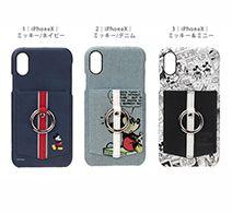 PGA iPhone X用 ハードケース ポケット&リング付き