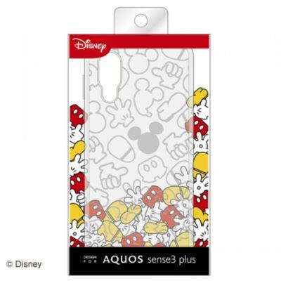 ray-out AQUOS sense3 plus ディズニー TPUソフト キラキラ