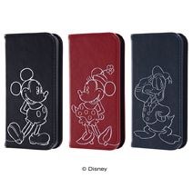 ray-out iPhone SE/5s/5 ディズニー 手帳型ケース ホットスタンプ