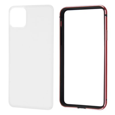 ray-out iPhone11ProMax アルミバンパー 背面パネル クリア
