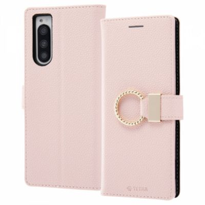 ray-out Xperia 5 手帳レザー TETRA リング