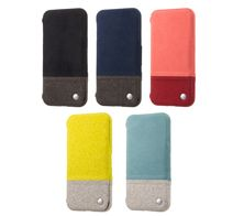 SoftBank SELECTION RILEGA Bicolor Fabric Flip for iPhone 7