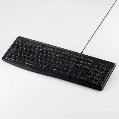 ELECOM 有線静音フルキーボード(TK-FCM090SBK)