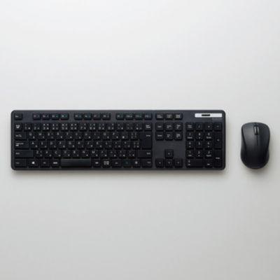 ELECOM 無線薄型フルキーボード&マウス(TK-FDM110MBK)