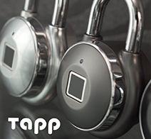 Tapplock one(タップロック ワン) 指紋認証 南京錠 スマートキー スマートロック ガンメタル