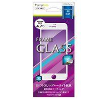 Simplism iPhone 8 ブルーライト低減フレームガラス