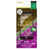 Simplism iPhone 8 アルミノシリケートフレームガラス