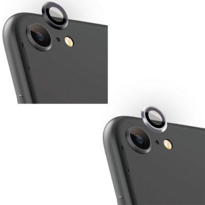 トリニティ iPhone SE(第2世代)Lens Bumper Plus カメラレンズ保護アルミフレーム&ガラスコーティングフィルムセット