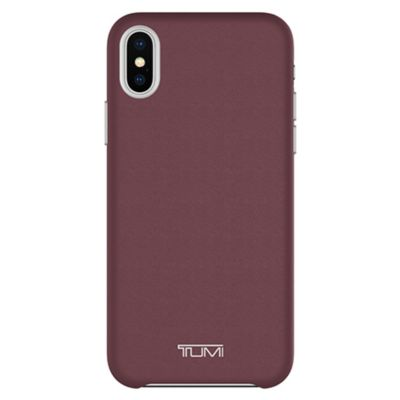 TUMI Leather Wrap Case for iPhone XS / X