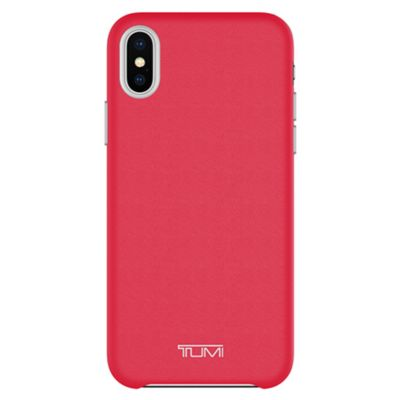 TUMI Leather Wrap Case for iPhone X