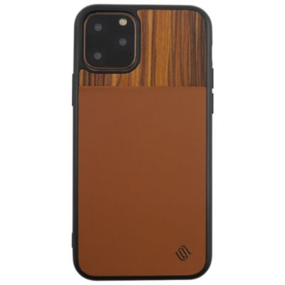 UUNIQUE iPhone11Pro ECO LEATHERF GENUINE WOOD BACK SHELL