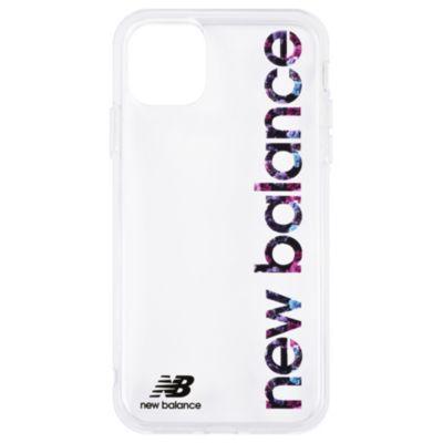 New Balance iPhone11 TPUクリアケース 縦ロゴ