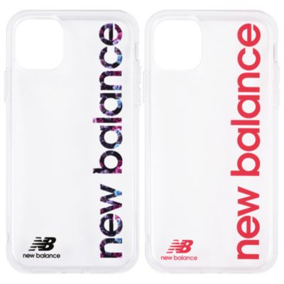 New Balance iPhone11Pro TPUクリアケース 縦ロゴ
