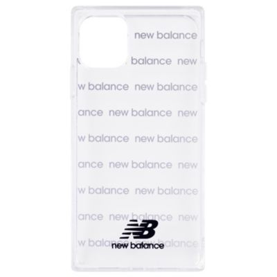 New Balance iPhone11Pro スクエア型TPUクリアケース ロゴボーダー
